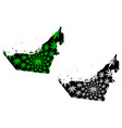 united arab emirates - map is designed cannabis vector image vector image