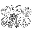 valentine doodle vector image vector image