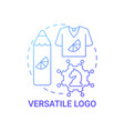 versatile logo concept icon vector image vector image