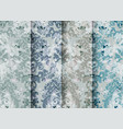 vintage floral baroque pattern set collection vector image vector image