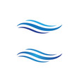 water wave icon design vector image vector image