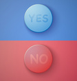 Web Infographic OK Cancel Yes No Colorful Buttons vector image vector image