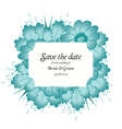 Wedding invitation cards with flowers vector image