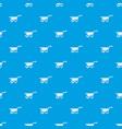 wheelbarrow pattern seamless blue vector image vector image