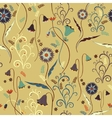 Wildflowers pattern with decorative elements