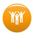 winning teamwork icon orange vector image vector image