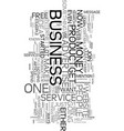 your own business if not now when text word cloud vector image vector image
