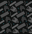 memphis style pattern retro dark background vector image