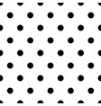 retro pattern with black polka dots on white vector image