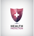 medical logo health protection shield with vector image