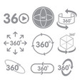 360 degrees view sign icon on the white background vector image