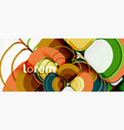 abstract background - geometric multicolored round vector image vector image