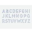 alphabet abc font Type letters Lowpoly vector image