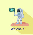 astronaut icon flat style vector image vector image