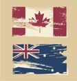 Australian flag Canadian flag vector image vector image