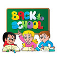 back to school thematic image 1 vector image
