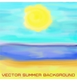 beach sea and sun vector image