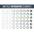 Big set of cycle elements for infographic vector image vector image