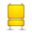 blank yellow sign vector image vector image