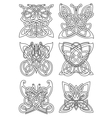 Butterfly insect tribal celtic ornaments vector image vector image
