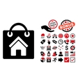 Buy Home Flat Icon with Bonus vector image vector image