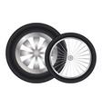 car wheels vector image