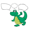 Cartoon thinking crocodile vector | Price: 1 Credit (USD $1)