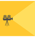 Cinema projector with light Flat design vector image