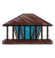 color crayon stripe wooden lamp decorative vector image vector image