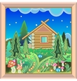 Country House in the magic forest picture in the vector image vector image
