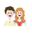 cute brazilian couple with hairstyle and typical vector image