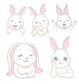 cute little rabbits collection can used for vector image vector image