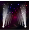 dark Christmas Stage Spotlight vector image vector image