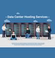 datacenter hosting vector image vector image