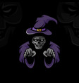 dead witch vector image