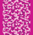 digital pink camouflage vector image vector image