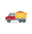 dump truck with sand heavy machine using in vector image vector image