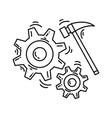e-commerce development icon hand drawn icon set vector image