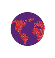 earth made hearts planet love world peace vector image vector image