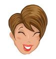 emoticon girl laugh vector image