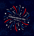 fireworks design 4th july vector image