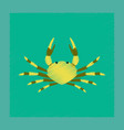 flat shading style animal crab vector image vector image