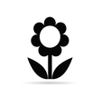 flower black vector image vector image