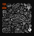 food and drink big set vector image