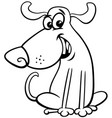 funny dog animal character coloring book vector image vector image