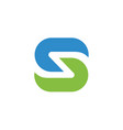 green and blue color letter s logo vector image vector image