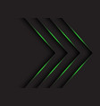 green light arrows direction on black vector image