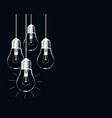 grunge with hanging light bulbs and place vector image vector image
