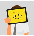 Guy with tablet pc vector image vector image