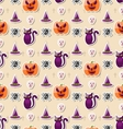 Halloween Seamless Pattern with Colorful vector image vector image